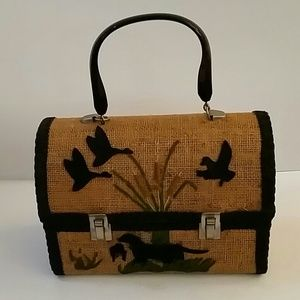 Handbags - Vintage Burlap Hunting Case Purse